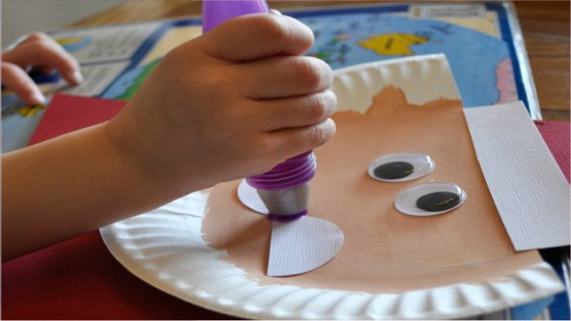 Craft Time Santa Claus Made of Paper Plate
