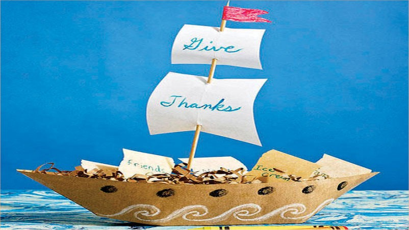 Craft Time How to Make Mayflower Centerpieces for Thanksgiving