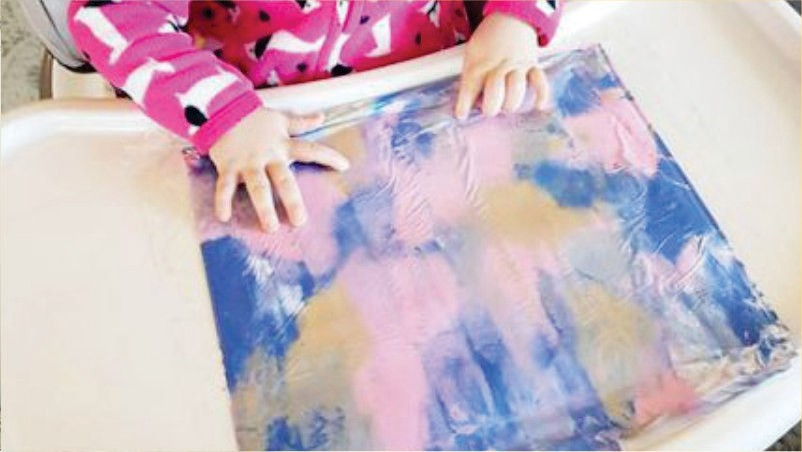 Craft Time painting without disturbances with children